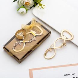 Wholesale In stock New wedding small gift creative gold letter LOVE beer bottle opener   explosion models opening ceremony commemorative small gifts