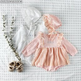 Princesses Clothes Australia - Baby Girls Clothes Autumn Baby Romper Girl Long Sleeve Infant Newborn Baby Clothes Lace Princess 1st Birthday Party Clothes Y19050602