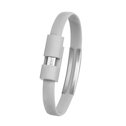 Micro usb cable coil online shopping - Grey Wristband Micro Cable Sync Data Transfer For Android Cell Phone Usb Charging Cord Y10