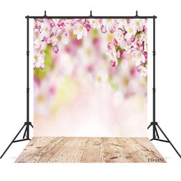 Flooring Accessories Australia - flower photography background wooden floor backdrops portrait for photograph accessories child baby shower backdrop photo studio