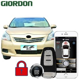 $enCountryForm.capitalKeyWord Australia - GIORDON 913 EZ car Theft prevention Keyless Entry Comfort System PKE Phone APP Remote Start Car Engine Alarm Push