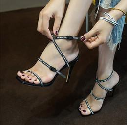 Grey Black Dress Belt Australia - Stylish white, black and red rubber belt gladiator sandals ladies high heels heels unique adjustable ankle strap wedding dress shoes
