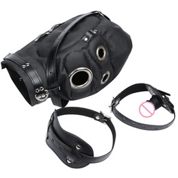Head Restraints Sex Australia - Women Exotic Set With Open Mouth Penis Gag Head Fetish Bondage Restraint Pu Leather Game Mask Sex Toys For Adults Couples Y19052403