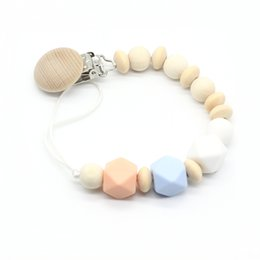 $enCountryForm.capitalKeyWord Australia - New Recommended Solid Wood Clip Abacus Beads Funny Pacifiers Silicone Baby Products Nipple Chain Attache Sucette Feeding Dummy
