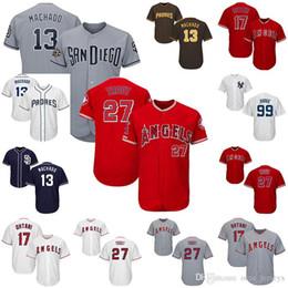 $enCountryForm.capitalKeyWord Australia - Mens Baseball Jerseys Los Angeles 27 Mike Trout Angels New York 99 Aaron Judge Yankees San Diego 13 Manny Machado Padres