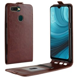 China For OPPO A7 AX7 Elephone A5 Lite Crazy Horse Flip Leather Case ID Card Slot Photo Frame Vertical TPU Mad Pocket Folio Skin Cover Luxury 2PCS cheap oppo pouches suppliers