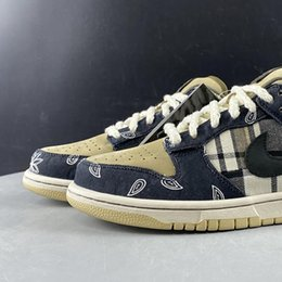 Wholesale Travis Scott x SB Dunk Low TS CT5053-001 1s Women Men Basketball Sports Shoes Sneakers 3M Suede Best Quality Trainers With Original Box