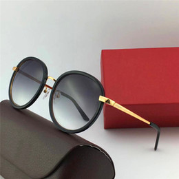 Protection Box Australia - Luxury- style women sunglasses retro circular frame fashion designer popular style uv protection eyewear top quality with original box 150