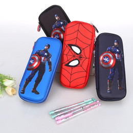 $enCountryForm.capitalKeyWord Australia - Spiderman Pencil Case Captain America Stationery Bag Avengers Pencil Case for Students Kids Gifts School Supply