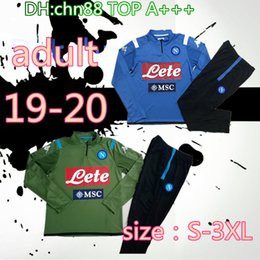 Wholesale xxxl tracksuit for sale – custom size S XL Napoli Soccer jacket tracksuit training suit Naples L INSIGNE MERTENS adult Full zipper football jacket tracksuit