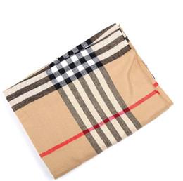 Scarfs Cotton Australia - Top Brand Spring Plaid Scarf For Women Tartan Cotton Shawl Plaid Blanket Scarf Designer Cashmere Scarf Woman's Scarves and Wraps