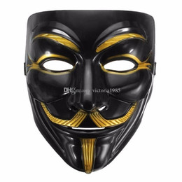 $enCountryForm.capitalKeyWord Australia - High Quality V for Vendetta Mask Anonymous Movie Guy Fawkes Halloween Masquerade Party Cosplay Mask Drop Shipping