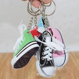 $enCountryForm.capitalKeyWord Australia - Relodi Mini Canvas Keychain Shoes Cute Tennis Shoes for Bag Pendant Car Key Chain Shoe Key Fob Funny Gifts K9