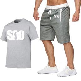 $enCountryForm.capitalKeyWord Australia - Designer Men Hoodie T Shirts Set Summer Fashion Cotton Short Sleeve Harajuku HipHop Mans T Shirts Shorts Suit Sportswear