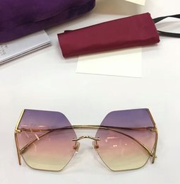 Super hot SunglaSSeS online shopping - SUPER High Quality Luxury Sunglasses Women Beautiful Shades Light Weight Metal Frame Frameless Spectacle Frame UV Protection Eyeglasses HOT