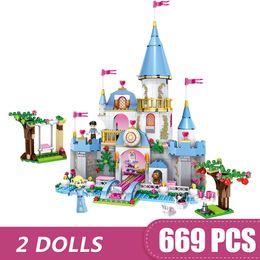 $enCountryForm.capitalKeyWord Australia - 669PCS Small Building Blocks Toys Compatible with Legoe Cinderella's Romantic Castle Gift for girls boys children DIY