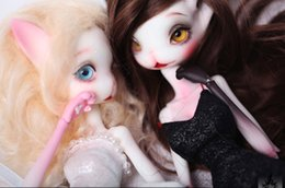 Two Pairs Shoes Australia - HeHeBJD Catwoman Madeline bjd sd doll size 32cm resin figures two pair of resin shoes free shipping