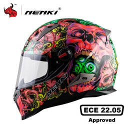 motorcycle helmets yellow color Australia - NENKI Motorcycle Helmet Men Moto Helmet ABS Material Motorcycle Riding Street Bike Motor Racing ECE Certification