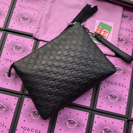 big brand leather bag NZ - Top quality Big size clutch bag with box women brand Genuine Leather square wallet leather purse women Money wallet size 30-23-4 473881