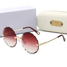 50481184e02 New Stylish Rimless Sunglasses Luxury Women Brand Gradient Shield Glasses  100% UV Protection Famous Lady Eyewear Brand Oversized Sunglasses