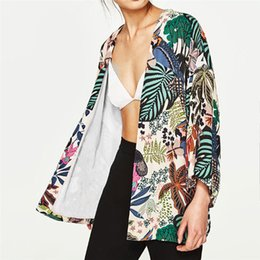 $enCountryForm.capitalKeyWord Australia - Women Jackets Spring Autumn Female Jacket Suit Floral Fashion Chiffon Kimono Oversized With Fringe Shawls Wraps Outerwear