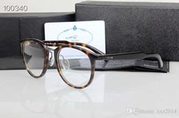 462daf3d20 2019 Brand OPR03TV retro round frame glasses 52-22-140 plank+metal nose bridge  prescription glasses full-set case OEM pric