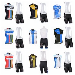 $enCountryForm.capitalKeyWord Australia - GIANT team summer mens Cycling Sleeveless jersey Vest bib shorts sets Bicycle Breathable sport wear clothes Bicycle Clothing Q62101