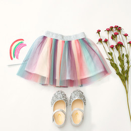 $enCountryForm.capitalKeyWord Australia - 2019 ins summer new mesh skirt girls baby color sweet skirt children rainbow pleated skirt tutu