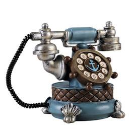 Vintage Living Room Furniture Australia - Vintage Book Phone Piggy Bank Home Decor Ornaments Retro Furniture Figurines Phone Miniatures Home Decoration Crafts Kids Gifts