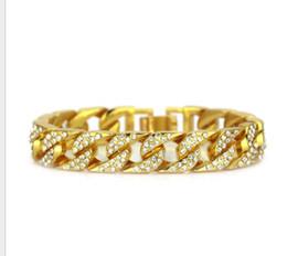 Amethyst Tennis Bracelet Silver Australia - Hip-hop Men's Diamond Bracelet 14K Gold-plated Locomotive Bracelet