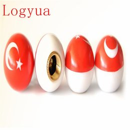 $enCountryForm.capitalKeyWord Australia - Car Style Turkey Flag Ball Tire Air Valve Cap Tyre Wheel Dust Stems Dust Caps For Car Truck Motorcycle Bike 40pcs = 10 set