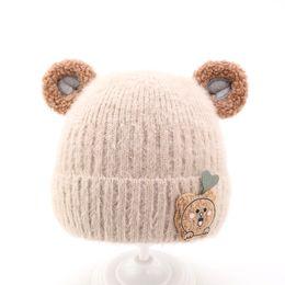 Опт 2020 зима детская шапка ребенка теплая шерстяная шапочка 1-2-3-4 летний мальчик вязаная шапка милый ребенок зимняя шапка