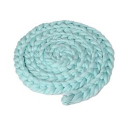 $enCountryForm.capitalKeyWord Australia - Hand-woven Baby Blanket Wool Crochet Baby Blanket Newborn Photography Props Chunky Knit Basket Filler Dropshiping