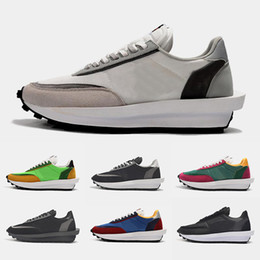 Toed running shoes online shopping - Designer Casual Shoes Sacai LDV Waffle Daybreak Trainers Mens Sneakers For Women designer Tripe S Sports Running Shoes Size Eur