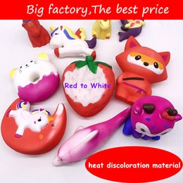 Wholesale Boxes Packaging Australia - Discolorable Jumbo Squishy The Newest Heat Discoloration Material Customized Style What you Need Could Come With Box Packaging Squishy Toys