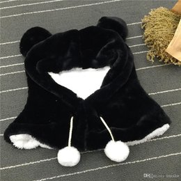 82efcbba458d09 2018 New Fashion Adorable Plush Bear Children Lovely Gift Winter Scarf Hat  Caps For Girls And Boys One Pair Ears Warm Wind 35*35CM