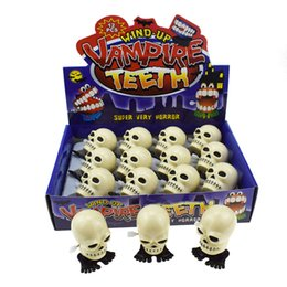 Skull Kid Figure Australia - Jumping Skull Wind Up Toys Kids Clockwork Toys Walking Skull Halloween Party Supplies Gifts for Children