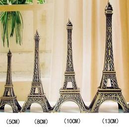 1 шт Башня статуи в винтажном стиле ретро бронзовые тона в форме башни статуи модель домашнего декора 5/8/10/13 см на Распродаже