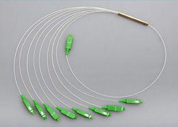$enCountryForm.capitalKeyWord Australia - 10pcs HOT NEW Steel Tube 1x8 Differential Mini Blockless SC APC Connector 1*8 Fiber Optic PLC Splitter Wire harness Wholesale