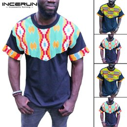 52628637781b 2019 Men T-shirt Traditional Tops Casual Shirts African Dashiki Retro Short  Sleeve Crew Neck Loose Vintage Men Clothes Camisa
