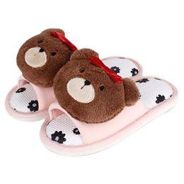 $enCountryForm.capitalKeyWord UK - New Little Girls Slippers Cute 3D Bears Flower Print Girl Slippers for Children's Non Slip Soft Indoor Home Kids Shoes