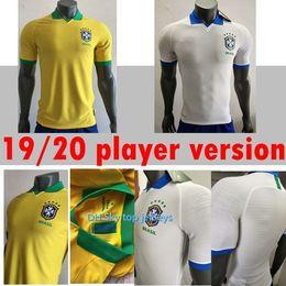 bcb3b8001a4 2020 player version Brazil soccer jersey home Marcelo PELE OSCAR D.COSTA DAVID  LUIZ top quality football soccer shirt