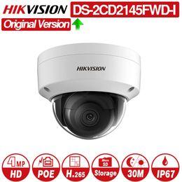 $enCountryForm.capitalKeyWord Australia - Hikvision DS-2CD2145FWD-I POE Camera Video Security 4MP IR Network Dome Camera 30M IR IP67 IK10 H.265+ SD card slot 10pcs lot