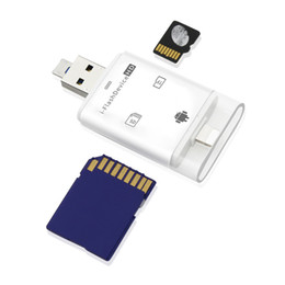 $enCountryForm.capitalKeyWord Australia - 3 in 1 Card Reader Micro USB I6 I7 I8 Flash Drive Adapter High Speed Connector TF Memory Card Reader for PC Computer Phone