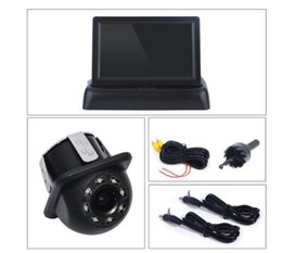 $enCountryForm.capitalKeyWord Australia - 4.3 inch Night Vison Rear View Backup Camera With Color LCD Car Video Foldable Monitor Kit Car Auto Parking Assistance