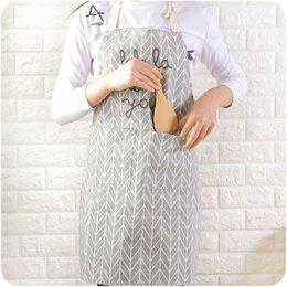 $enCountryForm.capitalKeyWord Australia - Women's Kitchen Apron with Pocket Cotton Linen Ladies Kitchen Apron Bib for Women Cook Cupcake Cafe and Waitress