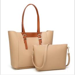 $enCountryForm.capitalKeyWord Australia - cheap 2pcs set high qulity classic womens handbags ladies composite tote PU leather promotion shoulder bags female shop's bags,free shipping