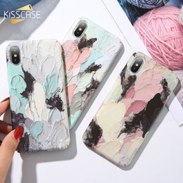 Paint Art 3d NZ - Art Graffiti Painted Phone Case For iPhone 7 8 X Xs Max 3D Emboss Luminous Hard PC Case For iPhone XR 6 7 8 Plus Cover