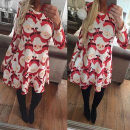Winter Snow Suits Australia - Fairy2019 The Christmas Elderly Snow Printing Dress Autumn And Winter Suit-dress