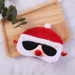 fashion eye sleep mask Canada - Sleep Masks Santa Claus Eye Mask Personality fashion Soft Sleep Travel Shade Cover Blindfold Sleeping Tools